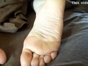 Cum on sleeping girls feet 4