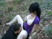 amateur blowjob in the forest mamada en el bosque