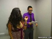 Jessica bangkok is an elevator quickie