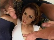 Luna Lane Sucks and Fucks Two Big Cocks