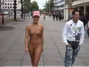 Dani nude shopping tour in the city