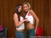 Jessie Jewels got her first film with Franchezca Valentina at Lesbian Training