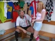 white Teen in Long socks fucked in dressing room