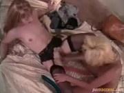 Hot lesbian scene with Mila