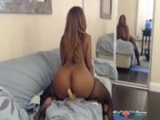 Busty Nyla Storm Bouncing Her Big Butt Fucking Her Toys on Webcam