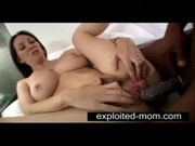 Busty brunette milf taking big black cock