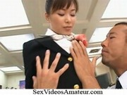 Yua Aida Naughty Asian stewardess is on the prowl for cock NEW