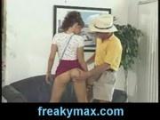Max Hardcore seducing a dumb slut to fuck him as he shows he