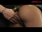 Black Girl Getting Handcuffed Pussy Fingered Sucking Cock