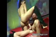 Nasty stripper fucked on stage