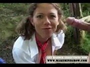 Euro girl fuck in woods