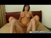 Naughty stepmom fucks her stepson