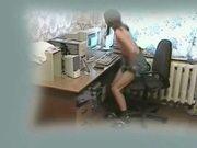 My curious sister masturbates at computer. - slutload.com
