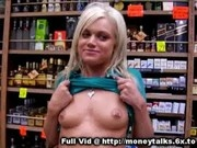 Blonde Flashes Tits For Cash