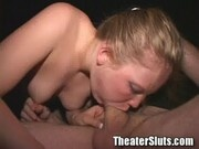Teen tammi sucking and fucking all the audience at porn theater