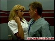 Jill Kelly hot nurse gets a cock in the elevator