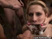 Gangbanged Blonde Bimbo