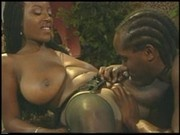 Big titted ebony Sierra gets fucked in the bar