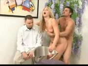 Kimber Winters Gets Fucked And Jizzed In Front Of Her Husband