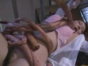 Woman raped by Tentacle Monster