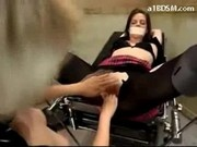 Girl Getting Tied To Chair Fingered Whipped By Nurse In Pvc Outfit At The Surgery