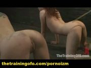 Two bdsm slaves training perverts pain and submission 2