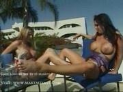 Amanda and charice - Two hot women having fun in the sun1