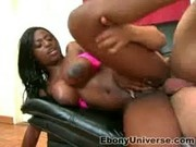 Leesha a black babe with lots of attitude at Ebony Universe