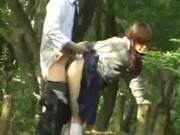 Voyeur Japanese girl fucked in public