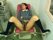 Girl masturbating during gynecological exam