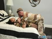 Army dude drills hot babe in her pussy pie - exxxtravideoscom