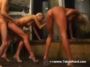 Horny twins making a dick lucky