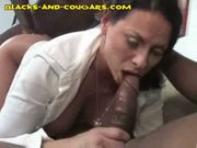 Three blacks share a milf