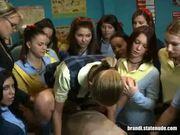 Virgin teen fucked in classroom