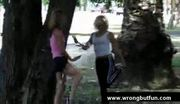 Jogging girls get violated
