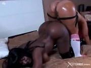 Big Asses Lesbians Uses Their Strapon Dildo