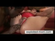 Busty spanish milf takes big cock