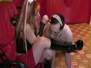 Femdom CBT Mistress Foot Worship Footjob