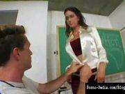 Hot milf angel rain seduces student!