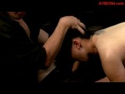 Asian Girl Disgraced In Public Sucking Cocks While Asshole Fucked On The Desk