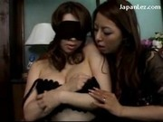 Handcuffed Blindfolded Girl Getting Her Nipples Pinched Sucked Pussy Rubbed By Mature Lady Whos Film
