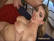 Busty babe gets hard fucked