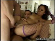 Annie Cruz in a double penetrating action