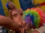 Girl Dancer Gets Orgasmic Pleasure From Clown