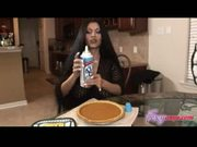 Foxy anya gets facial in kitchen