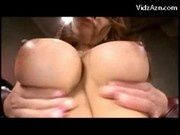 Busty Girl In Colorful Lingerie Having Orgasm Masturbating With Toys In The Armchair