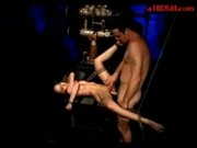 Bondaged Girl Getting Her Asshole Fucked In The Dungeon