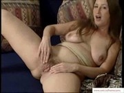 Hairy German Milf playing with her hairy pussy