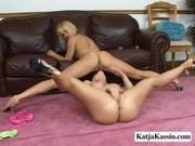 Katja and Katarina - Horny Lesbians Making Out