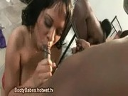 Ebony Group Blowjob Fun